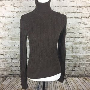GAP brown turtleneck sweater